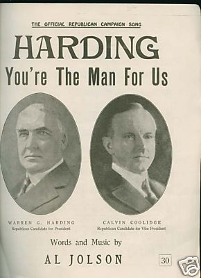Presidents Harding and Coolidge